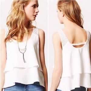 Anthropologie HD in Paris Lace Tiered Tank Top